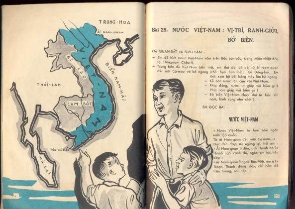 Trang trong sách Địa Lý lớp Ba