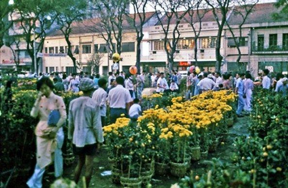 Chợ hoa ngày Tết xưa
