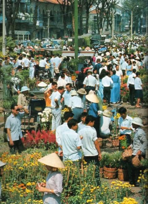 Chợ hoa Sài Gòn xưa
