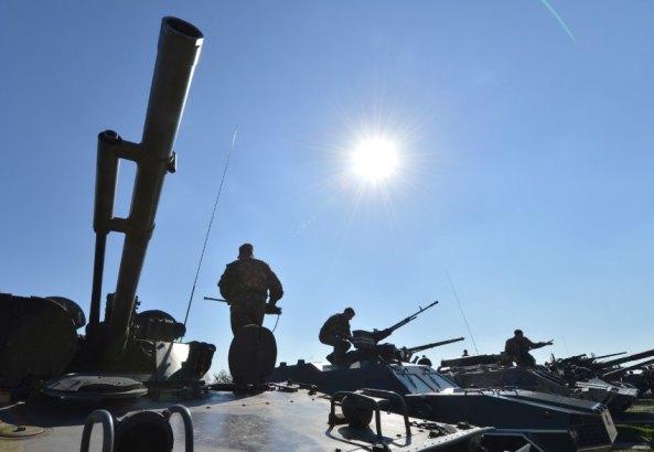 Quân đội Ukraine  trong tình trạng báo động. (Ảnh: AFP)