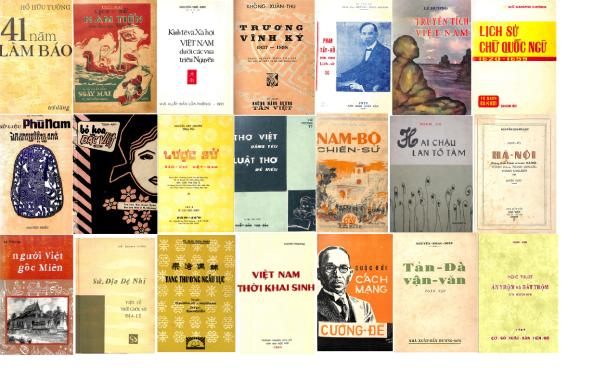 Những bìa sách tiêu biểu trong Tủ Sách Tiếng Việt .